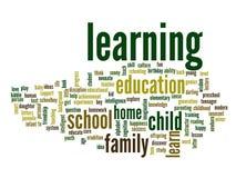 Nuvem conceptual da palavra da educação Foto de Stock
