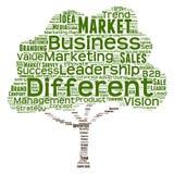 Nuvem conceptual da palavra da liderança do negócio Fotografia de Stock Royalty Free
