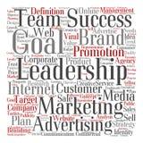 Nuvem conceptual da palavra da liderança do negócio Imagem de Stock Royalty Free