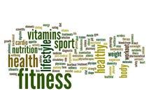 Nuvem conceptual da palavra da saúde Fotos de Stock