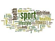 Nuvem conceptual da palavra da saúde Imagens de Stock
