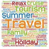 Nuvem conceptual da palavra do turismo Foto de Stock Royalty Free