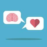 Nuvem, coração e cérebro Foto de Stock