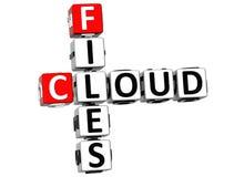 a nuvem 3D arquiva palavras cruzadas Foto de Stock Royalty Free