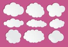 Nuvem da estrutura no céu Foto de Stock Royalty Free