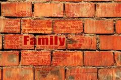 Nuvem da etiqueta da família imagens de stock royalty free