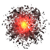 Nuvem da explosão de Grey Pieces Ilustração Stock