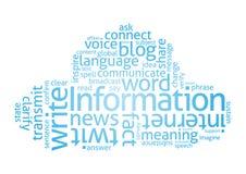 Nuvem da informação Imagens de Stock