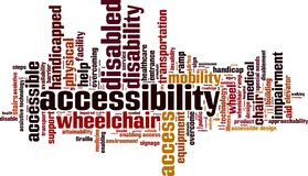Nuvem da palavra da acessibilidade ilustração do vetor