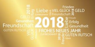 nuvem da palavra com cumprimentos do ano novo 2018 Fotografia de Stock Royalty Free