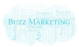 Nuvem da palavra com mercado do zumbido do texto ilustração stock