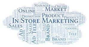 Nuvem da palavra com texto no mercado da loja foto de stock royalty free