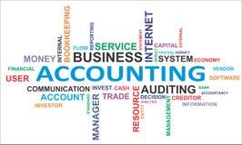 Nuvem da palavra - contabilidade Foto de Stock