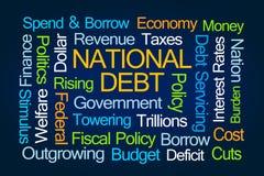 Nuvem da palavra da dívida pública ilustração stock