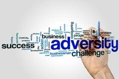 Nuvem da palavra da adversidade Foto de Stock Royalty Free