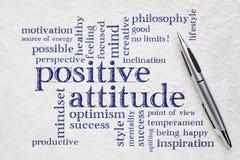 Nuvem da palavra da atitude positiva Imagens de Stock Royalty Free