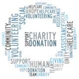 Nuvem da palavra da caridade ilustração stock