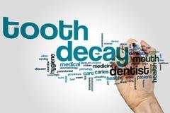 Nuvem da palavra da deterioração de dente Imagem de Stock Royalty Free