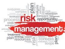 Nuvem da palavra da gestão de riscos Fotografia de Stock