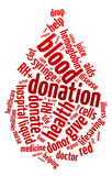 Nuvem da palavra da gota do sangue Fotos de Stock Royalty Free