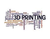 nuvem da palavra da impressão 3d Imagem de Stock