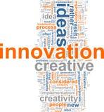 Nuvem da palavra da inovação Fotografia de Stock