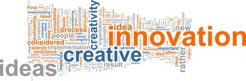 Nuvem da palavra da inovação Fotos de Stock Royalty Free