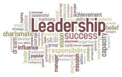 Nuvem da palavra da liderança Fotografia de Stock Royalty Free