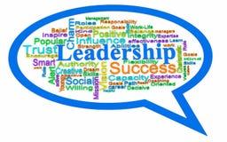 Nuvem da palavra da liderança Foto de Stock