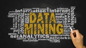 Nuvem da palavra da mineração de dados fotos de stock royalty free