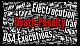 Nuvem da palavra da pena de morte Fotografia de Stock Royalty Free