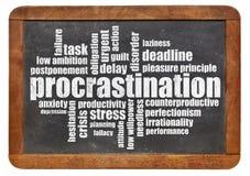 Nuvem da palavra da procrastinação Imagens de Stock Royalty Free