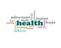 Nuvem da palavra da saúde ilustração stock