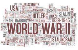 Nuvem da palavra da segunda guerra mundial Fotografia de Stock