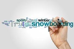 Nuvem da palavra da snowboarding Imagem de Stock