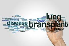 Nuvem da palavra da transplantação do pulmão foto de stock