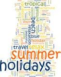 Nuvem da palavra das férias de verão ilustração do vetor