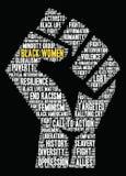 Nuvem da palavra das mulheres negras ilustração royalty free