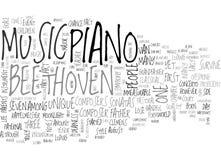 Nuvem da palavra de Beethoven ilustração stock