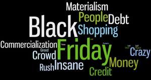 Nuvem da palavra de Black Friday Fotos de Stock