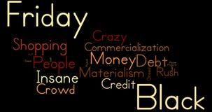 Nuvem da palavra de Black Friday Fotos de Stock Royalty Free