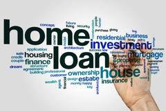 Nuvem da palavra de empréstimo hipotecario Fotos de Stock