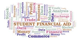 Nuvem da palavra de Financial Aid do estudante ilustração do vetor