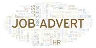 Nuvem da palavra de Job Advert ilustração royalty free