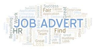 Nuvem da palavra de Job Advert ilustração do vetor