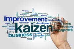Nuvem da palavra de Kaizen imagens de stock