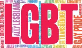 Nuvem da palavra de LGBT ilustração stock