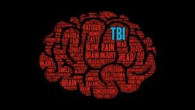 Nuvem da palavra de TBI ilustração stock