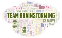 Nuvem da palavra de Team Brainstorming ilustração stock