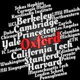 Nuvem da palavra de universidades populares fotografia de stock royalty free